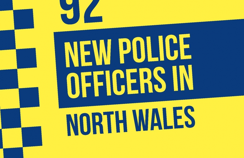 North Wales bolstered by 92 extra police officers