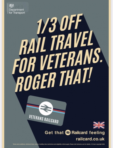 North Wales Veterans and their families to benefit from discounted rail travel